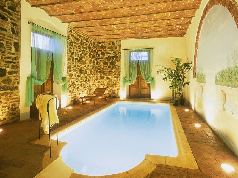 Indoor pool at Villa de Michelangioli, sleeps 18