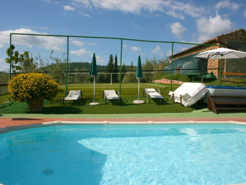 Casa Bella fenced private pool and tennis court