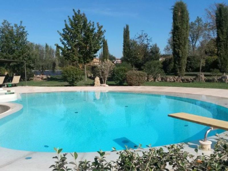 Pool at Pieve di Sant Ippolito tuscan villa sleeps 4 walk to town, pool shared with owners
