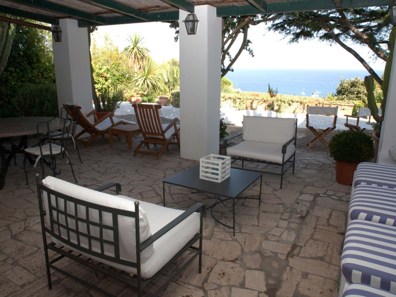 Beach villas in Italy - sea view from Villa La Bouganville